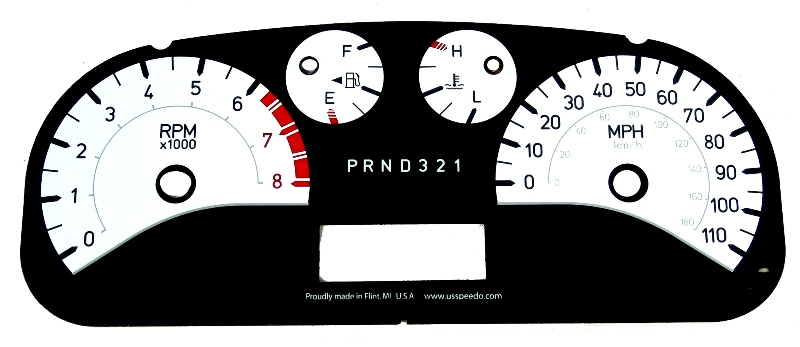 Hummer H3 2006-2009  White / White Night Performance Dash Gauges