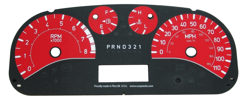 Hummer H3 2006-2009  Red / White Night Performance Dash Gauges