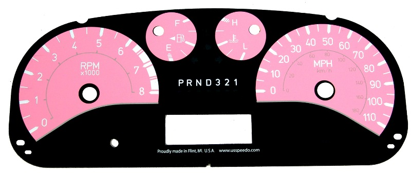 Hummer H3 2006-2009  Pink / White Night Performance Dash Gauges