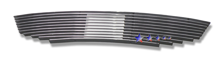 Honda Accord  2008-2010 Polished Main Upper Aluminum Billet Grille