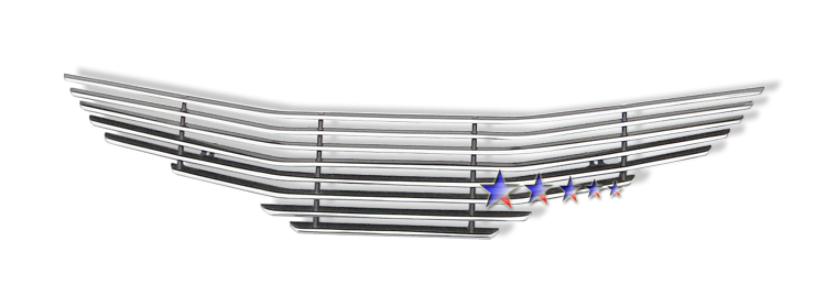 Honda Honda Fit  2009-2011 Polished Main Upper Aluminum Billet Grille