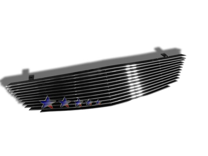 Honda Accord  2001-2002 Polished Main Upper Aluminum Billet Grille