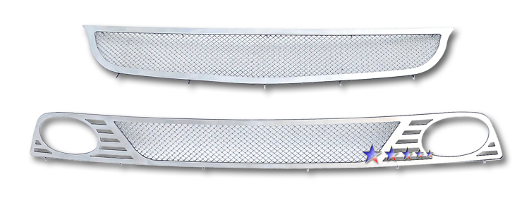 Honda Civic  2006-2008 Chrome Main Upper + Lower Bumper Mesh Grille
