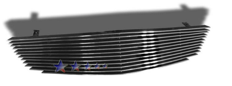 Honda Civic  2001-2002 Polished Main Upper Aluminum Billet Grille
