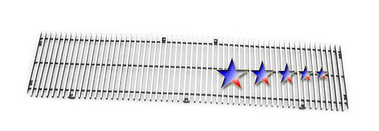 Honda Ridgeline  2005-2008 Polished Main Upper Aluminum Billet Grille