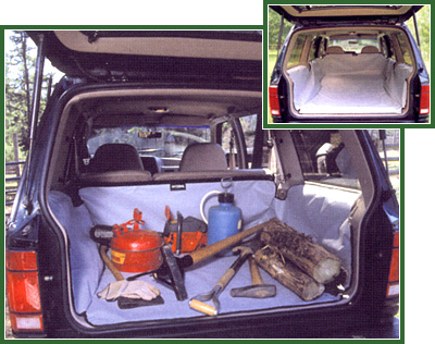 Chevrolet Tahoe 2000-2002 (2nd Row Seat Upright, 3rd Row Seat Folded Down) Hatchbag Cargo Liner