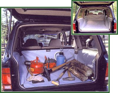Hyundai Santa Fe 2007-2009 (2nd Row Seat Upright) Hatchbag Cargo Liner