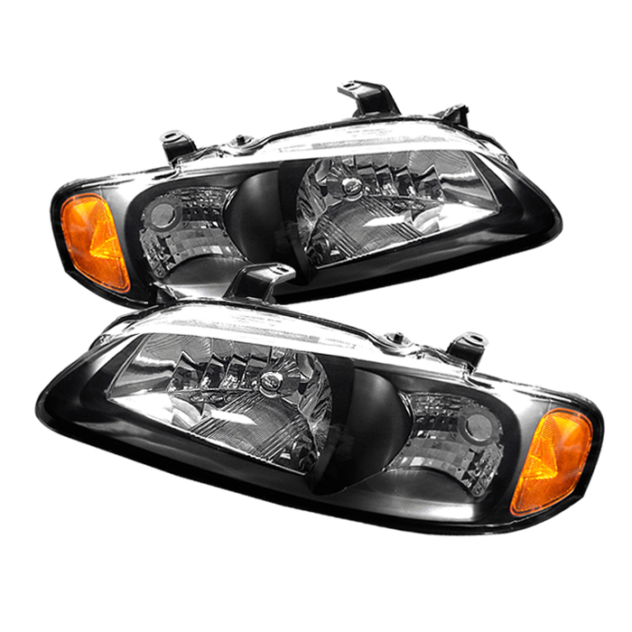Nissan Sentra 2000-2003 Black Euro Crystal Headlights