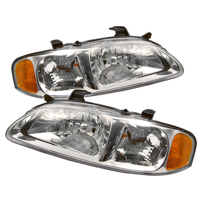 Nissan Sentra 2000-2003 Chrome Euro Crystal Headlights