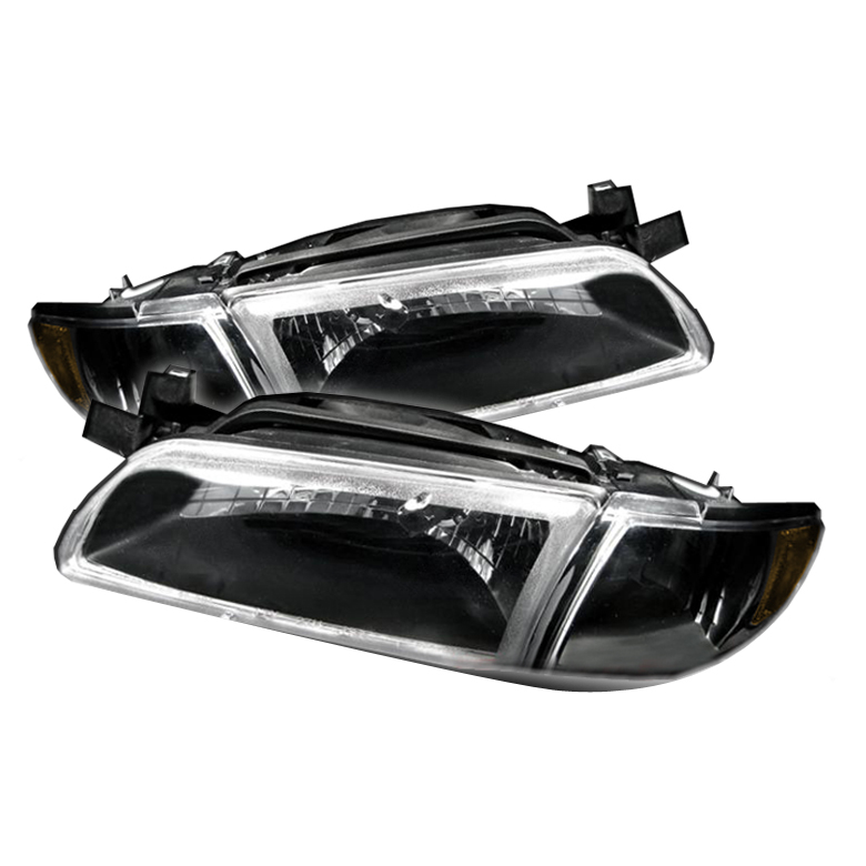 Pontiac Grand Prix 1997-2003 Black Euro Crystal Headlights