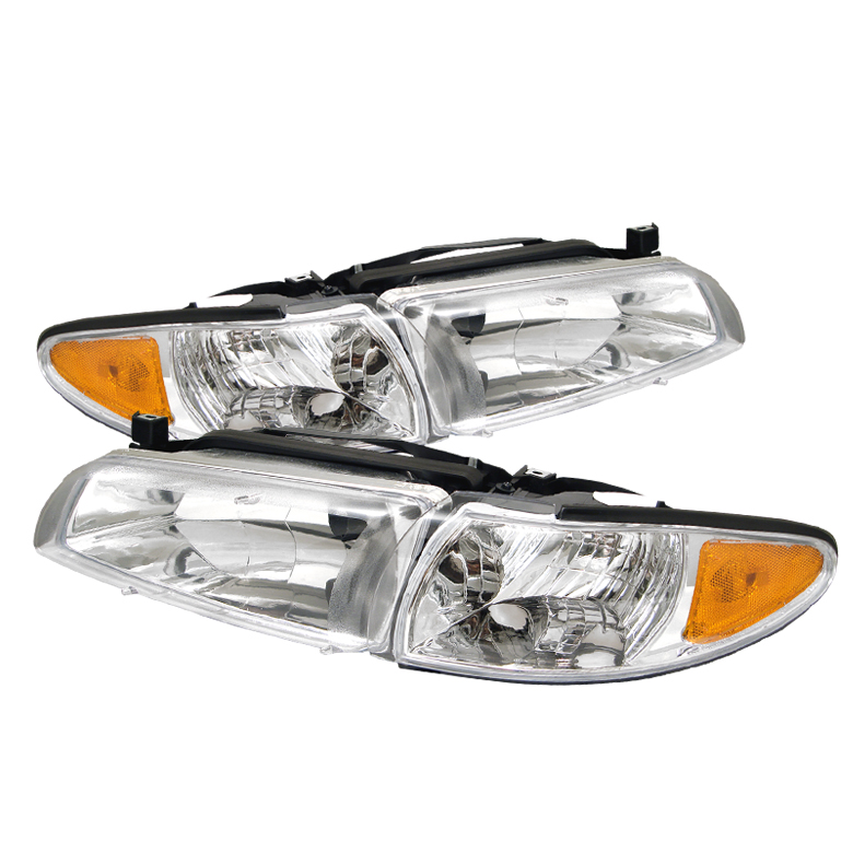 Pontiac Grand Prix 1997-2003 Chrome Euro Crystal Headlights