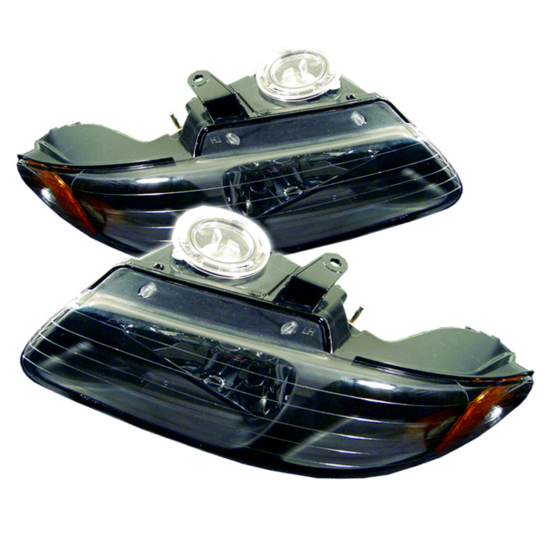 Dodge Caravan 1996-2000 Black Euro Crystal Headlights