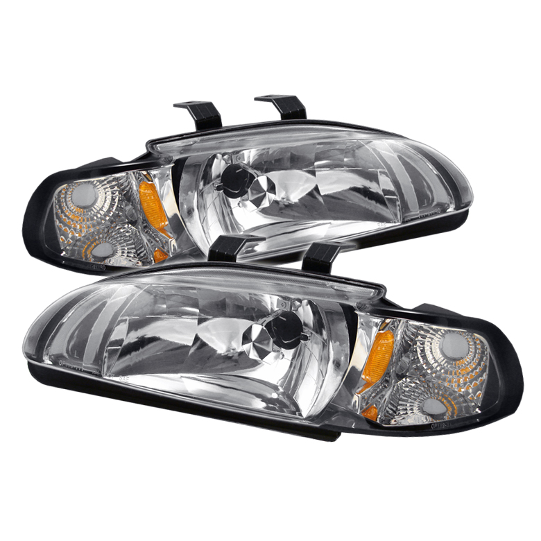 Honda Civic 1992-1995 Chrome Euro Crystal Headlights