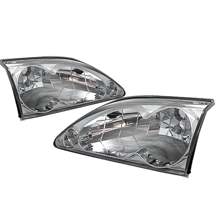 Ford Mustang 1994-1998 Chrome Euro Crystal Headlights