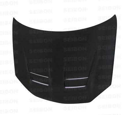 Volkswagen Gti (shaved Emblem) 2006-2008 Dv Style Carbon Fiber Hood