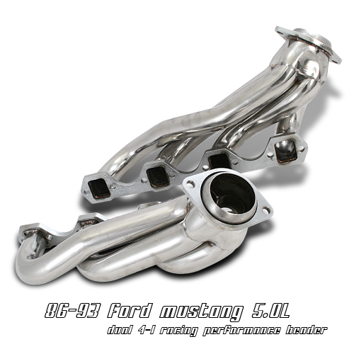 Ford Mustang 1987-1993 5.0l V8  Exhaust Headers