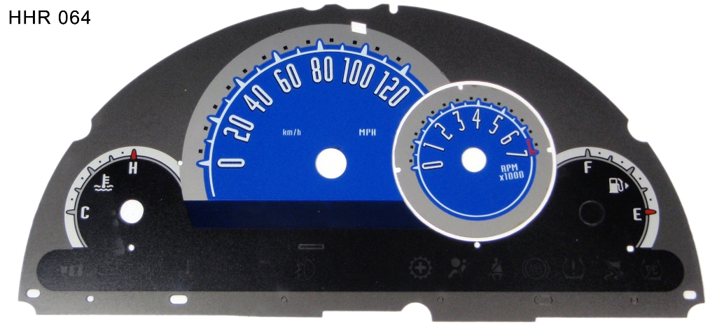 Chevrolet Hhr 2006-2009  Blue / Blue Night Performance Dash Gauges
