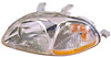 1998 Honda Civic  Hatchback / Sedan Passenger Side Replacement Headlight