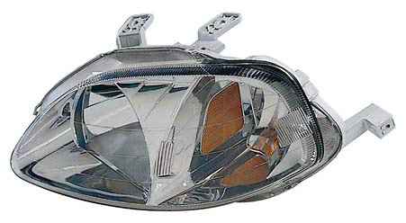 Honda Civic 99-00 Passenger Side Replacement Headlight