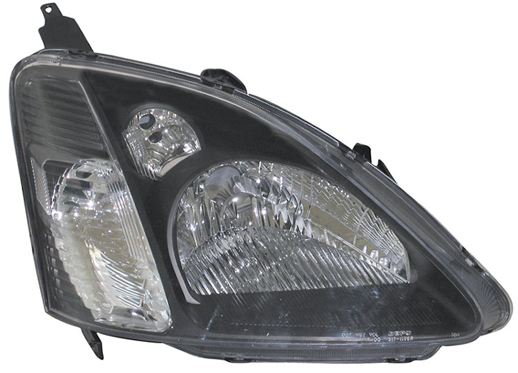 Honda Civic SI Hatchback 02-03 Black Diamond Back Headlight Conversion