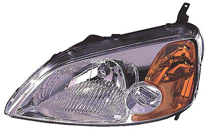 Honda Civic 01-03 Coupe Passenger Side Replacement Headlight