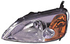 2002 Honda Civic  Coupe Passenger Side Replacement Headlight