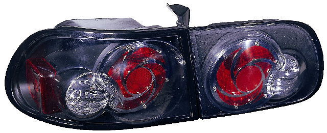 Honda Civic Hatchback 92-95 Black Euro Tail Lights