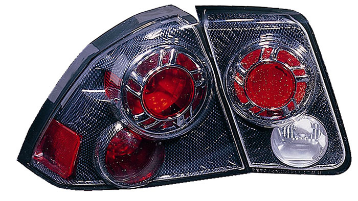 Honda Civic Sedan 01-05 Carbon Fiber Euro Tail Lights