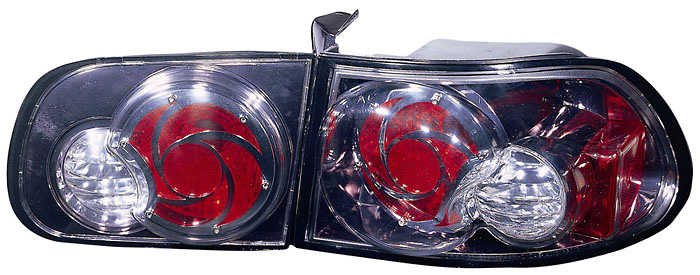Honda Civic Hatchback 92-95 Gun Metal Euro Tail Lights