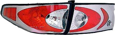 Honda Accord 2003-2005 Sedan (4DR) Chrome Euro Style Tail Lights