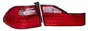 Honda Accord Sedan 98-00 Red and Clear TYC Euro Tail Lights