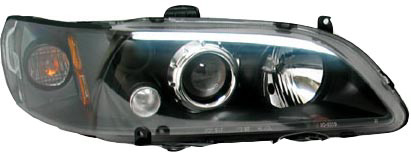 Honda Accord 98-02 TYC Black Projector Headlights