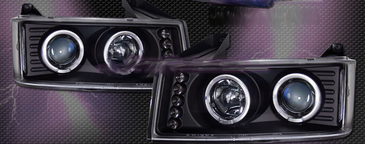 Chevrolet Colorado 2004-2006 Projector Headlights (Black)