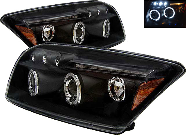 Dodge Caliber 2007-2008 Black Projector Headlights