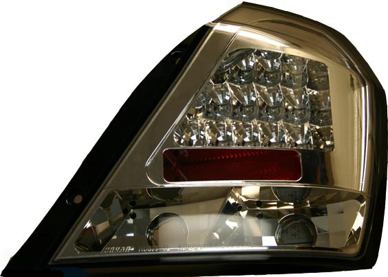 Chevrolet Aveo Led Chrome Euro Tail Lights 2006-07