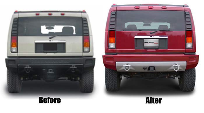 Hummer H2 2003-2004 Custom Rear Bumper Cover