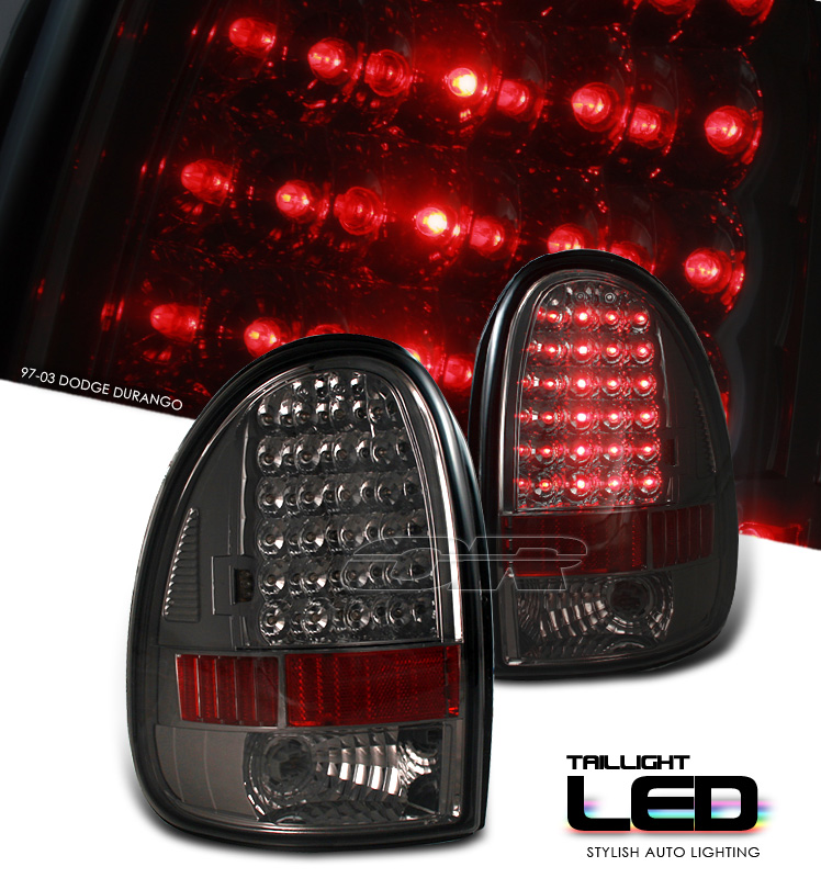 Dodge Durango 1997-2003  Smoke Led Tail Lights