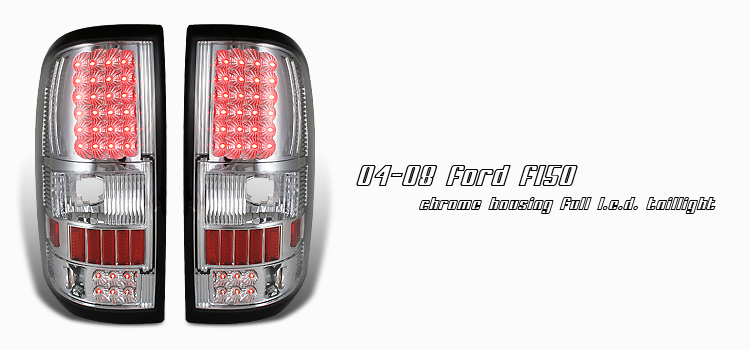 Ford F150 2004-2008  Chrome Led Tail Lights