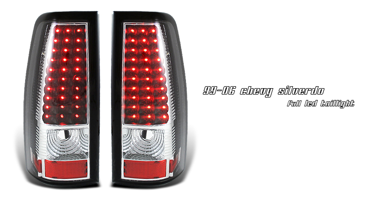 Chevrolet Silverado 1999-2006  Black Led Tail Lights