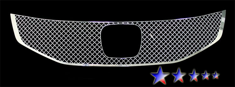 Honda Accord  2011-2012 Chrome Main Upper X Mesh Grille