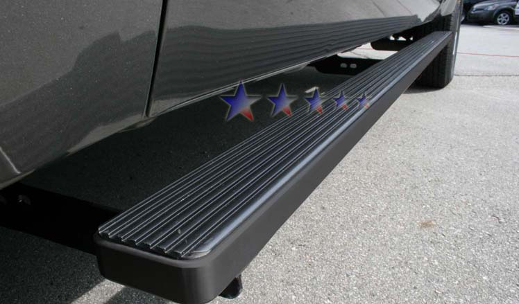 Gmc Sierra 2001-2012 3500 Ext Cab Aps Iboard Step Bars - Black Powder Coated