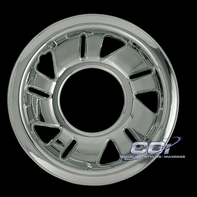 "Mazda B-Series 1998-2003 Chrome Wheel Covers, 5 Triangle 5 Slots (15"" Wheels)"