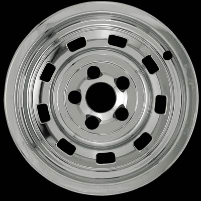"Jeep Wrangler 1987-2002 Chrome Wheel Covers, 9 Rounded Slots (15"" Wheels)"