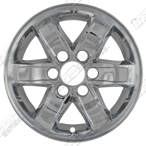 "Gmc Sierra  2007-2013 Chrome Wheel Covers, 6 Spoke (17"" Wheels)"