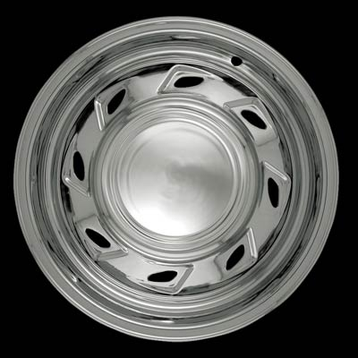 "Mazda B Series 1994-2006 Chrome Wheel Covers, B3000,B4000, 8 Directional Triangles (15"" Wheels)"