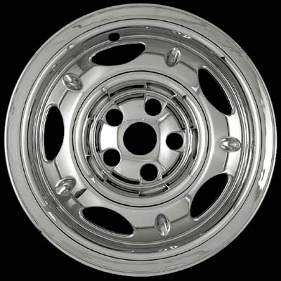 "Jeep Liberty 2002-2004 Chrome Wheel Covers, 5 Dimpled Spokes (16"" Wheels)"