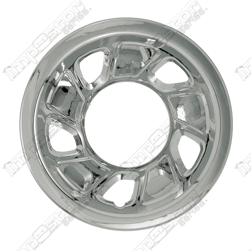"Ford Bronco  1992-1996 Chrome Wheel Covers, 5 Trapezoid Openings (15"" Wheels)"