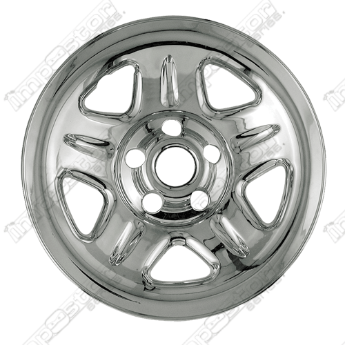 "Jeep Wrangler  1997-2001 Chrome Wheel Covers, 5 Dimpled Spokes (15"" Wheels)"