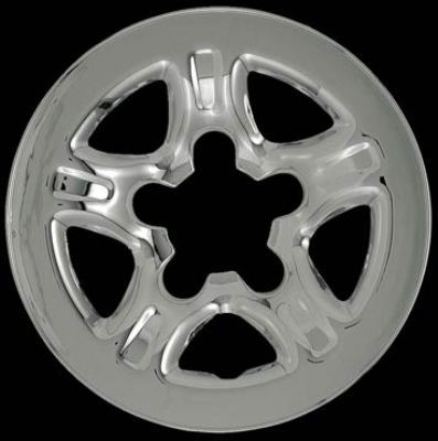 Chevrolet Tracker 1999-2004 Chrome Wheel Covers, 5 Dimpled Spokes (15