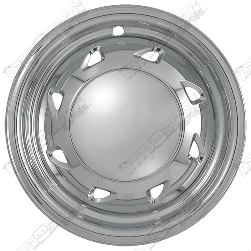 "Chevrolet S10 Pickup  1994-2004 Chrome Wheel Covers, 8 Directional Triangles (15"" Wheels)"